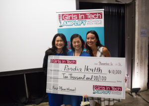 Winner of Girls in Tech AMPLIFY-Pandia Health